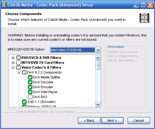 Program Codec Pack Advanced 1