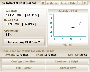 Program RAM Cleaner 1