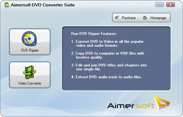 Program Aimersoft DVD Converter Suite 1