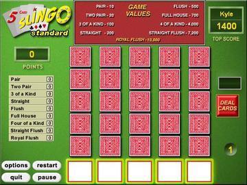 Slingo Card Game