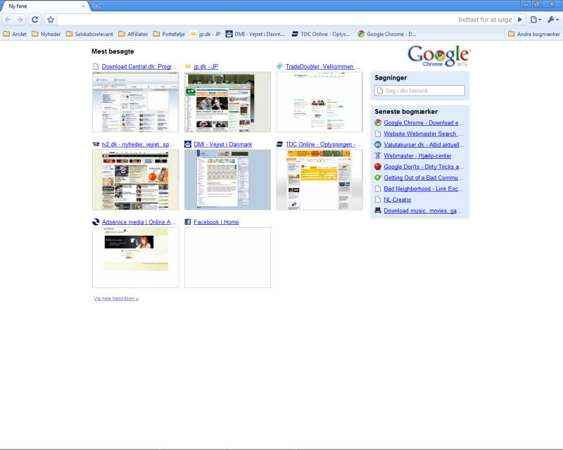 Program Google Chrome 4