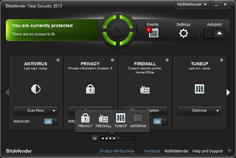 Program BitDefender Total Security 1