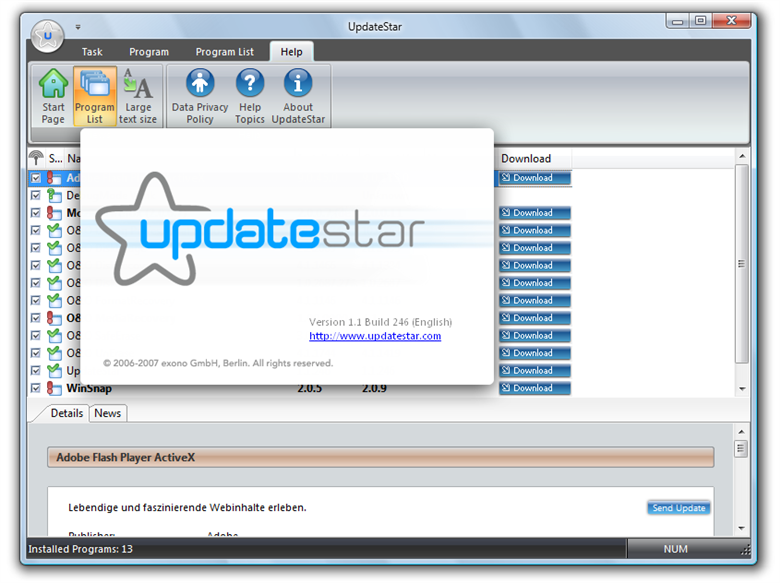 Program UpdateStar 3