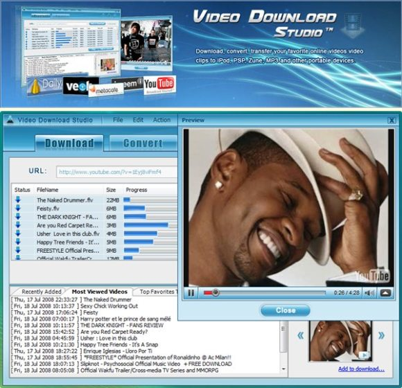 Program Video Download Studio Pro 1