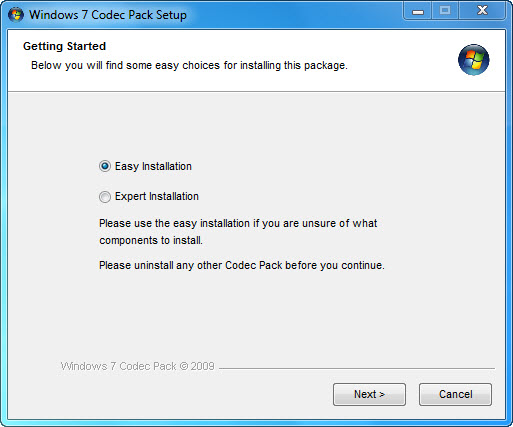 Program Windows 7 Codec Pack 2