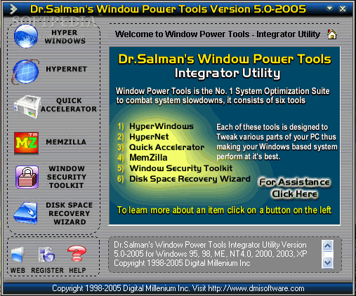 Program Dr. Salman's Window Power Tools 1