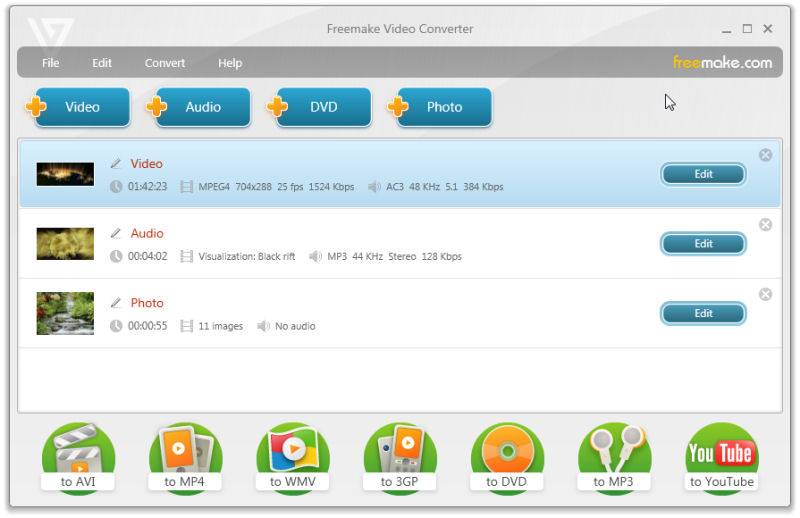 Program Freemake Video Converter 1
