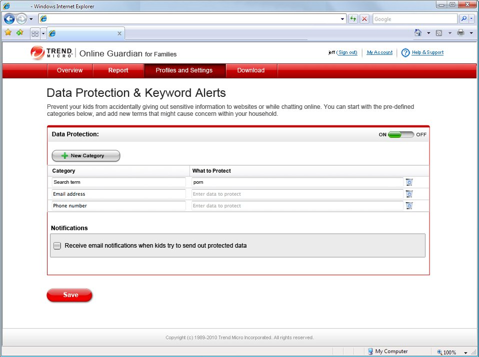 Program Trend Micro Online Guardian 1