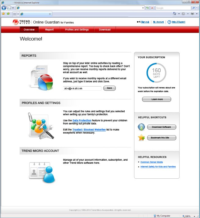 Program Trend Micro Online Guardian 3