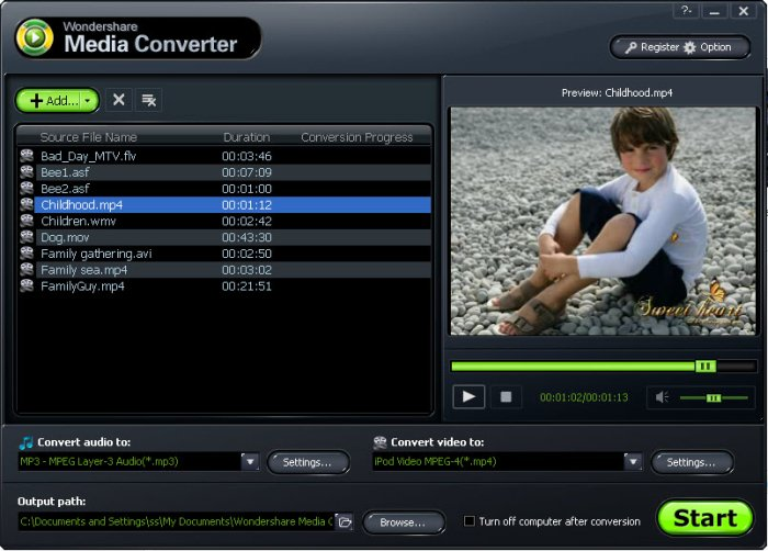 Program Wondershare Media Converter 1