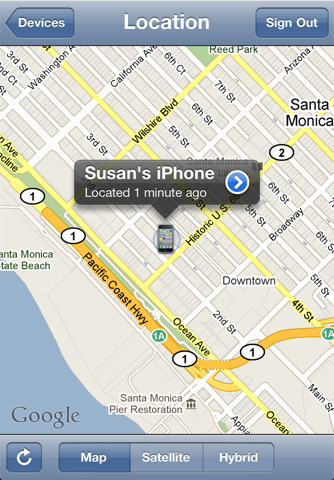 Program Find My iPhone 4
