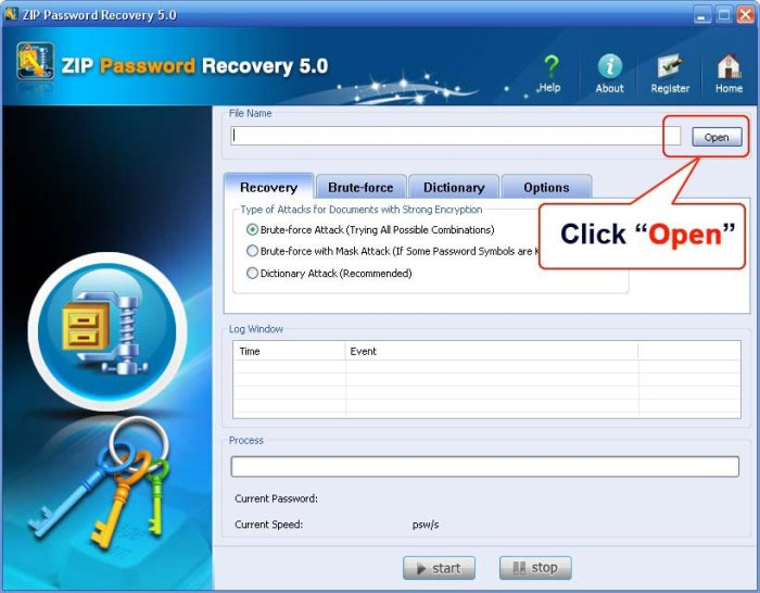 Program ZIP Password Recovery 1