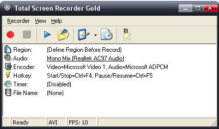 Program Total Screen Recorder Gold 4