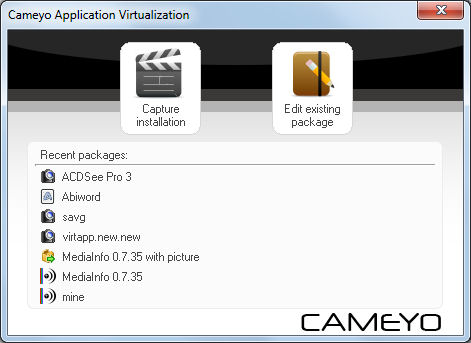 Program Cameyo Application Virtualization 4