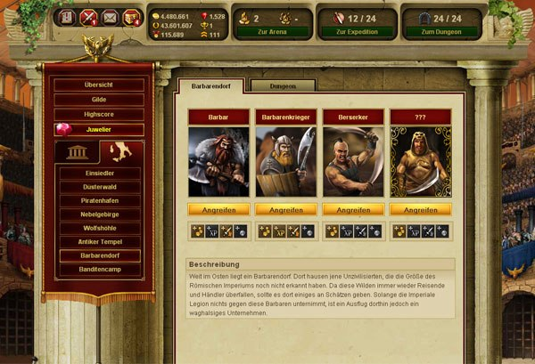 Game Gladiatus: Hero of Rome 3
