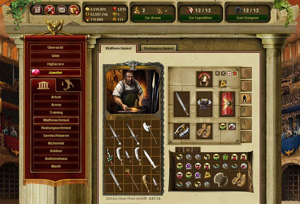 Game Gladiatus: Hero of Rome 2