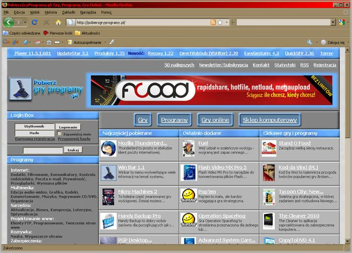 Program Mozilla FireFox 1