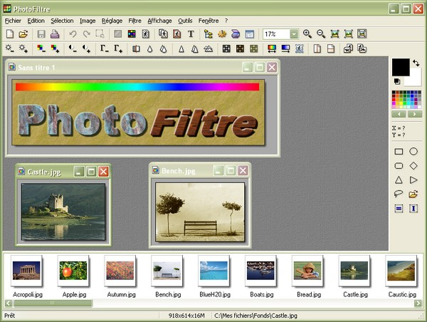 Program PhotoFiltre 1